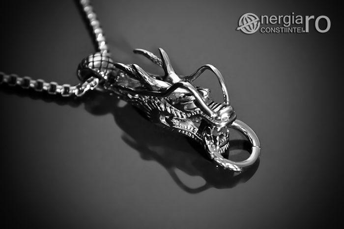Amuleta, Pandantiv Dragon Cornut INOX PND054-01
