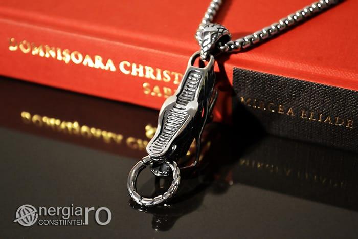 Amuleta, Pandantiv Dragon Cornut INOX PND054-05