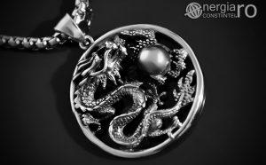 Amuleta, Pandantiv Dragon Cornut INOX PND055-00