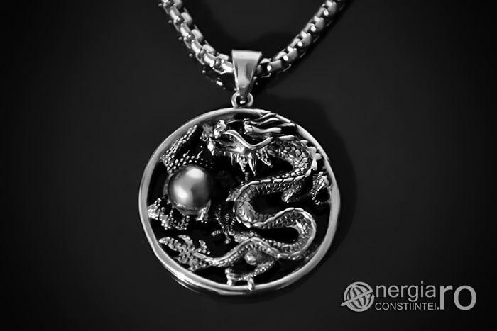 Amuleta, Pandantiv Dragon Cornut INOX PND055-01