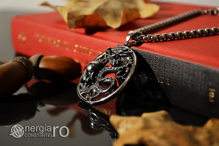 Amuleta, Pandantiv Dragon Cornut INOX PND055-02