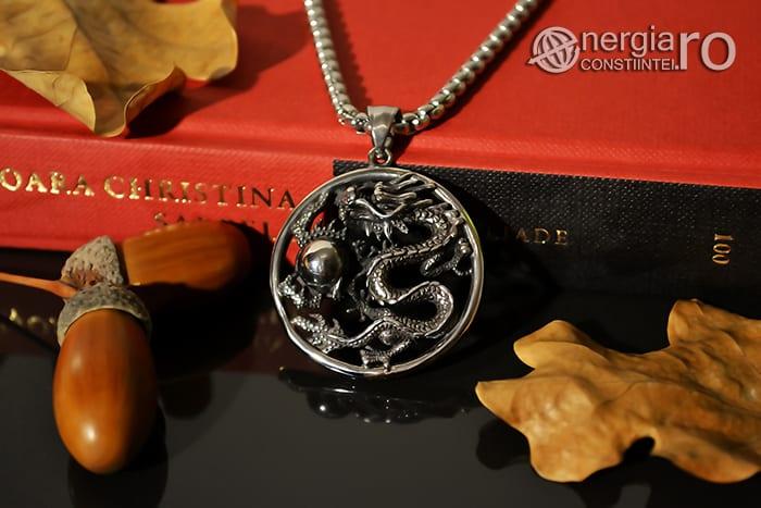 Amuleta, Pandantiv Dragon Cornut INOX PND055-03