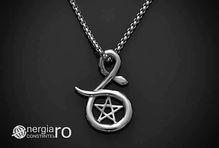 Pandantiv_Pentagrama_Pentaclu_Sarpe_Incolacit_Talisman_Medalion_Amuleta_Simbol_Sacru_INOX_PND030-02