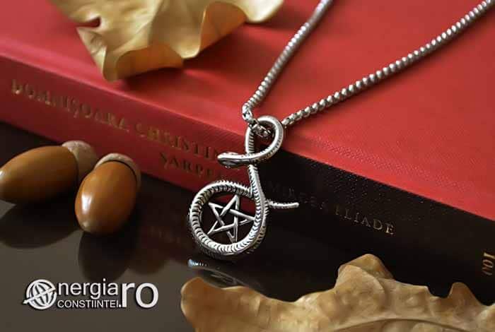 Pandantiv_Pentagrama_Pentaclu_Sarpe_Incolacit_Talisman_Medalion_Amuleta_Simbol_Sacru_INOX_PND030-03