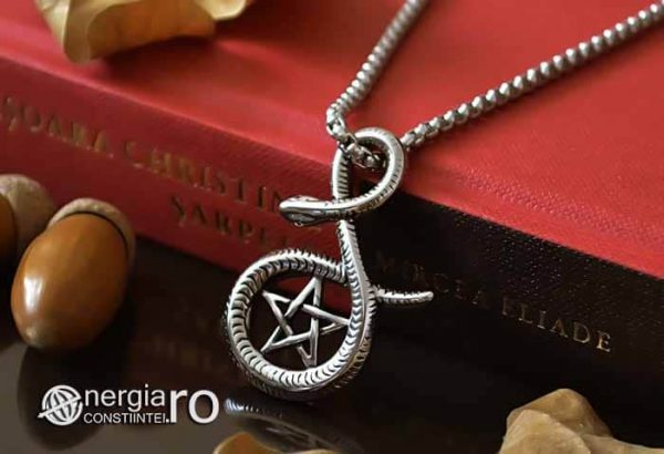 Pandantiv_Pentagrama_Pentaclu_Sarpe_Incolacit_Talisman_Medalion_Amuleta_Simbol_Sacru_INOX_PND030-04