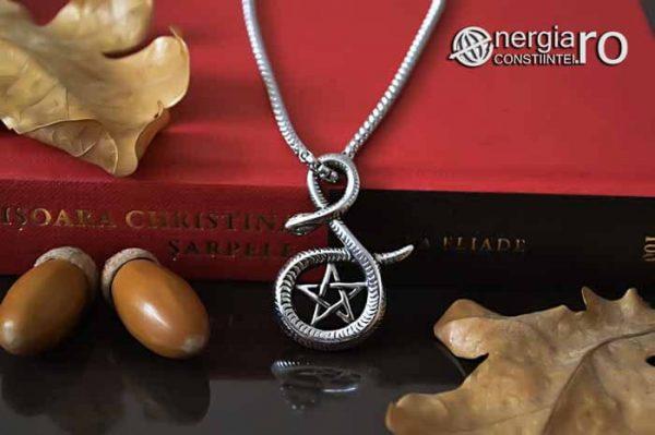 Pandantiv_Pentagrama_Pentaclu_Sarpe_Incolacit_Talisman_Medalion_Amuleta_Simbol_Sacru_INOX_PND030-05