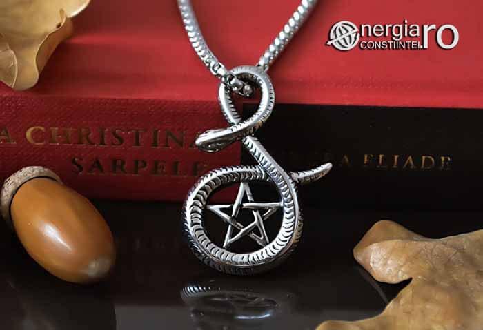 Pandantiv_Pentagrama_Pentaclu_Sarpe_Incolacit_Talisman_Medalion_Amuleta_Simbol_Sacru_INOX_PND030-06