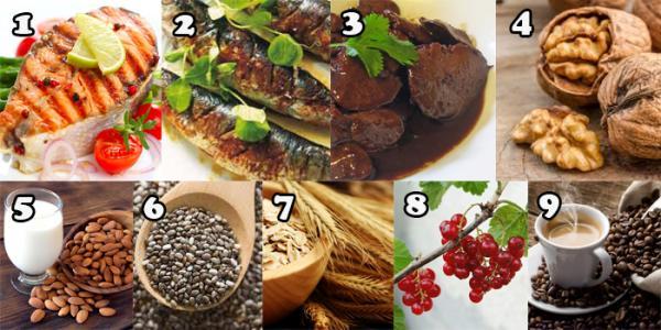 Somon-Sardine-Ficat-Nuci-Migdale-Chia-Ovaz-Coacaze-Cafea