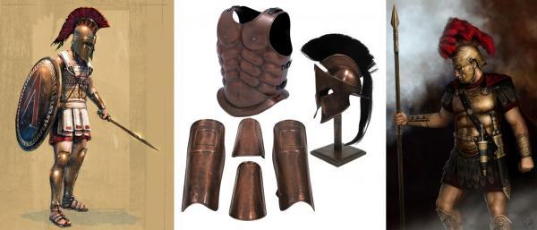 armura-romana-din-cupru