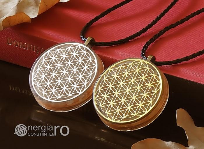 Amuleta-Medalion-Colier-Talisman-Pandant-Pandantiv-Orgonic-Orgon-Floarea-Vietii-Placata-Aur-18k-Argint-925-Cristal-Cuart-Roz-ORG005-04