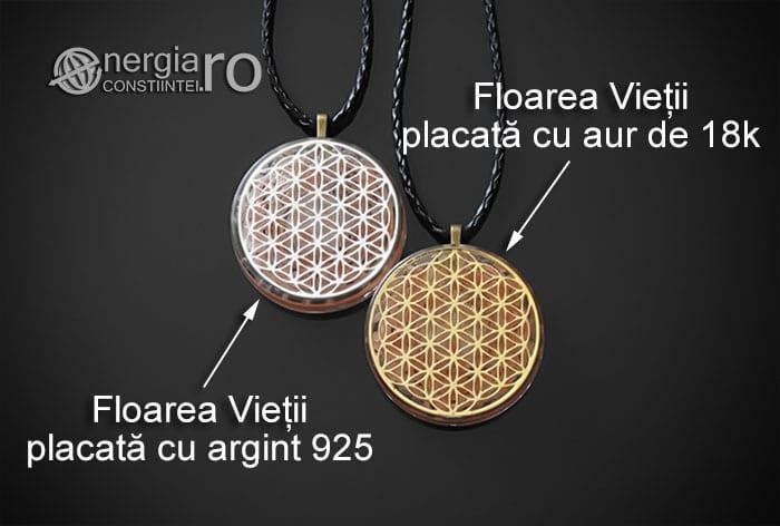 Amuleta-Medalion-Colier-Talisman-Pandant-Pandantiv-Orgonic-Orgon-Floarea-Vietii-Placata-Aur-18k-Argint-925-Cristal-Cuart-Roz-ORG005-07