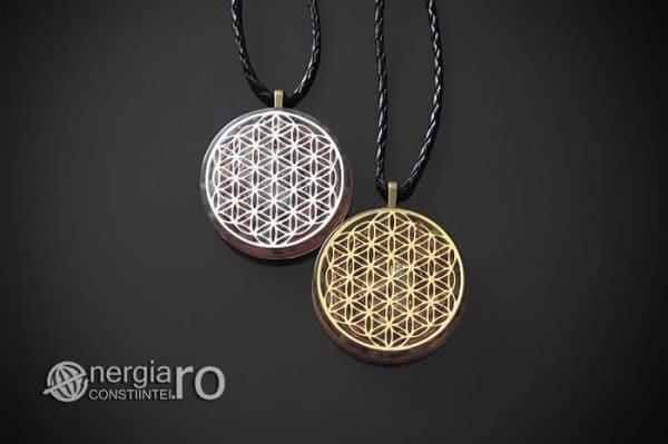 Amuleta-Medalion-Colier-Talisman-Pandant-Pandantiv-Orgonic-Orgon-Magnetic-Floarea-Vietii-Placat-Aur-18k-Argint-925-Cristal-Cuart-Ametist-ORG006-01