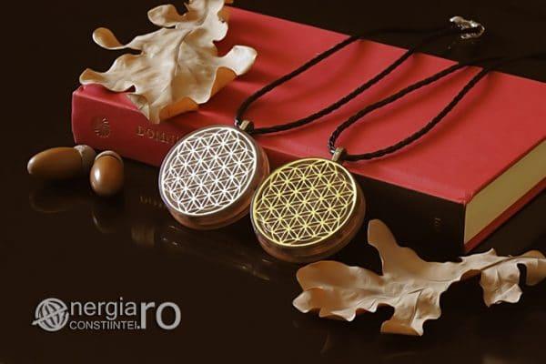 Amuleta-Medalion-Colier-Talisman-Pandant-Pandantiv-Orgonic-Orgon-Magnetic-Floarea-Vietii-Placat-Aur-18k-Argint-925-Cristal-Cuart-Ametist-ORG006-03