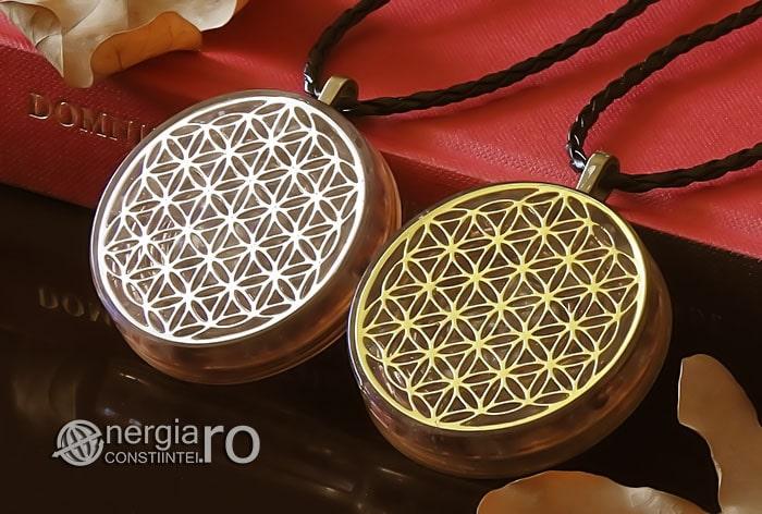 Amuleta-Medalion-Colier-Talisman-Pandant-Pandantiv-Orgonic-Orgon-Magnetic-Floarea-Vietii-Placat-Aur-18k-Argint-925-Cristal-Cuart-Ametist-ORG006-04