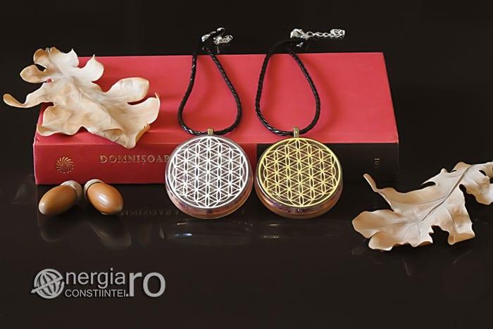 Amuleta-Medalion-Colier-Talisman-Pandant-Pandantiv-Orgonic-Orgon-Magnetic-Floarea-Vietii-Placat-Aur-18k-Argint-925-Cristal-Cuart-Ametist-ORG006-05