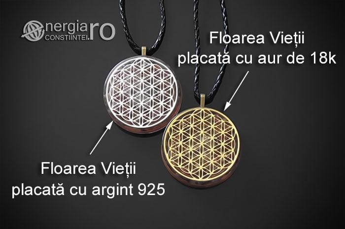 Amuleta-Medalion-Colier-Talisman-Pandant-Pandantiv-Orgonic-Orgon-Magnetic-Floarea-Vietii-Placat-Aur-18k-Argint-925-Cristal-Cuart-Ametist-ORG006-07