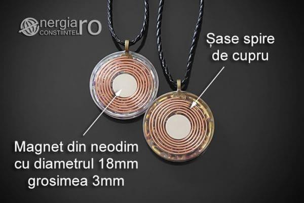Amuleta-Medalion-Colier-Talisman-Pandant-Pandantiv-Orgonic-Orgon-Magnetic-Floarea-Vietii-Placat-Aur-18k-Argint-925-Cristal-Cuart-Ametist-ORG006-08