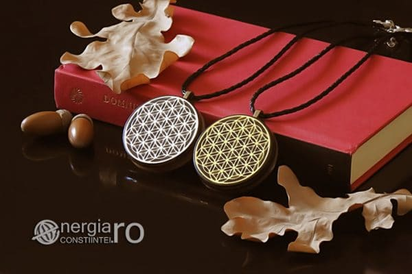 Amuleta-Medalion-Talisman-Pandant-Pandantiv-Orgonic-Orgon-Magnetic-Floarea-Vietii-Placat-Aur-18k-Argint-925-Cenusa-Vulcanica-Turmalina-ORG007-03
