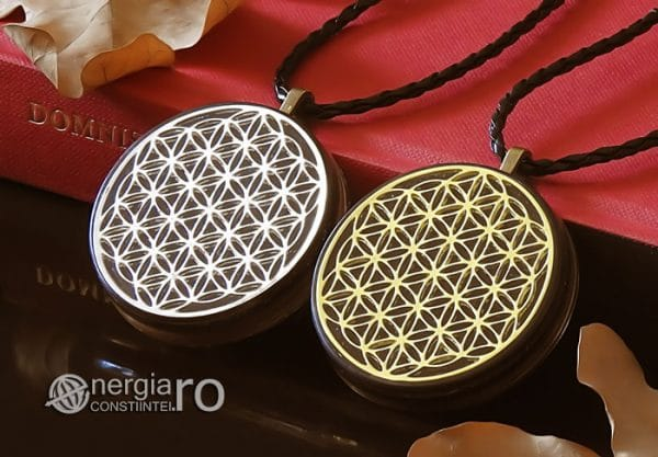 Amuleta-Medalion-Talisman-Pandant-Pandantiv-Orgonic-Orgon-Magnetic-Floarea-Vietii-Placat-Aur-18k-Argint-925-Cenusa-Vulcanica-Turmalina-ORG007-04