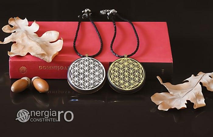 Amuleta-Medalion-Talisman-Pandant-Pandantiv-Orgonic-Orgon-Magnetic-Floarea-Vietii-Placat-Aur-18k-Argint-925-Cenusa-Vulcanica-Turmalina-ORG007-05