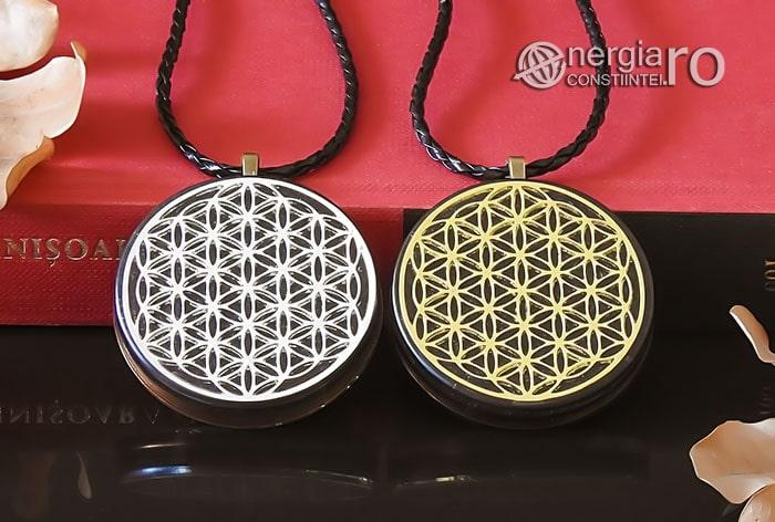 Amuleta-Medalion-Talisman-Pandant-Pandantiv-Orgonic-Orgon-Magnetic-Floarea-Vietii-Placat-Aur-18k-Argint-925-Cenusa-Vulcanica-Turmalina-ORG007-06