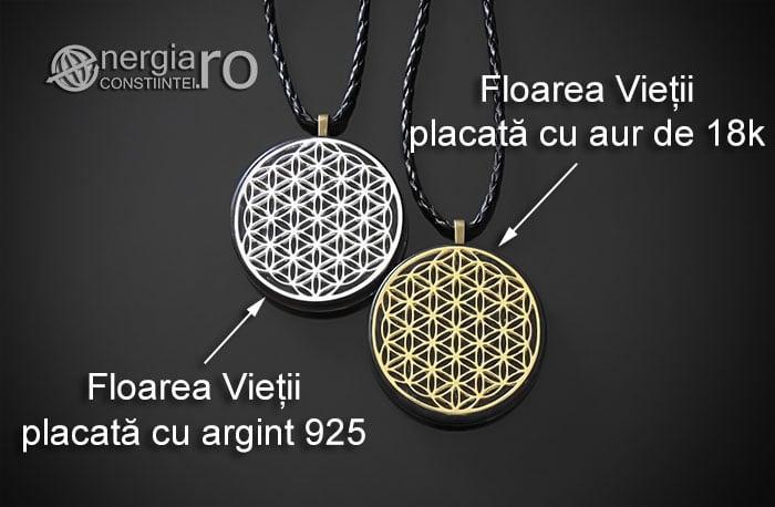 Amuleta-Medalion-Talisman-Pandant-Pandantiv-Orgonic-Orgon-Magnetic-Floarea-Vietii-Placat-Aur-18k-Argint-925-Cenusa-Vulcanica-Turmalina-ORG007-07