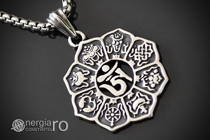 Amuleta-Talisman-Pandantiv-Om-Mani-Padme-Hum-INOX-PND100-00