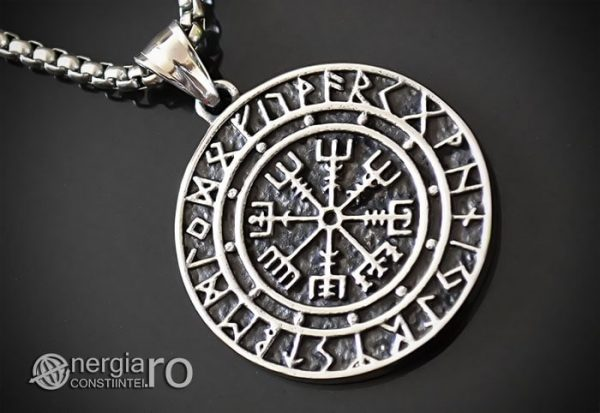 Pandant-Amuleta-Talisman-Medalion-Colier-Pandantiv-Roata-Norocului-cu-Rune-PND105-00