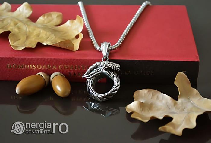 Pandant-Amuleta-Pandantiv-Dragon-Oroboro-Ouroboro-Ouroboros-Protectie-Protector-INOX-PND115-04