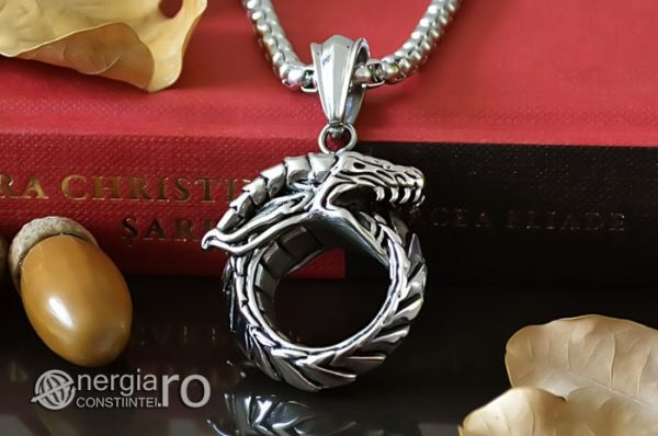 Pandant-Amuleta-Pandantiv-Dragon-Oroboro-Ouroboro-Ouroboros-Protectie-Protector-INOX-PND115-05