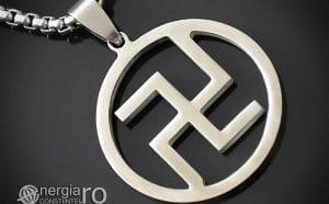 Pandant-Amuleta-Talisman-Pandantiv-Svastica-Protector-Protectie-INOX-PND130-00