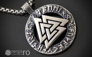 Pandant-Amuleta-Talisman-Protector-Protectie-Valknut-Odin-cu-Rune-INOX-PND110-00