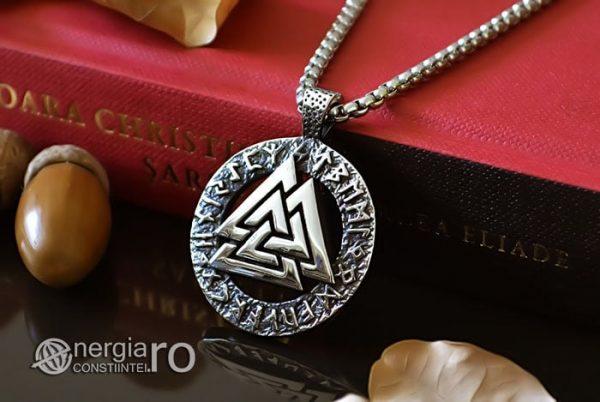 Pandant-Amuleta-Talisman-Protector-Protectie-Valknut-Odin-cu-Rune-INOX-PND110-04
