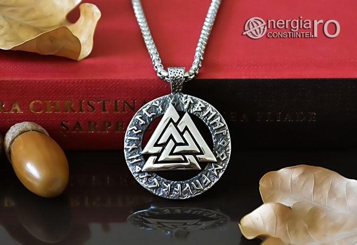 Pandant-Amuleta-Talisman-Protector-Protectie-Valknut-Odin-cu-Rune-INOX-PND110-06