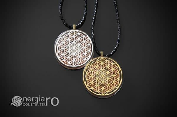 Amuleta-Medalion-Talisman-Pandant-Pandantiv-Orgonic-Orgon-Floarea-Vietii-Protector-Protectie-Placat-Aur-18k-Argint-925-ORG010-01