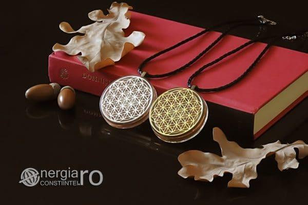 Amuleta-Medalion-Talisman-Pandant-Pandantiv-Orgonic-Orgon-Floarea-Vietii-Protector-Protectie-Placat-Aur-18k-Argint-925-ORG010-03