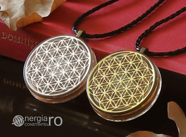 Amuleta-Medalion-Talisman-Pandant-Pandantiv-Orgonic-Orgon-Floarea-Vietii-Protector-Protectie-Placat-Aur-18k-Argint-925-ORG010-04