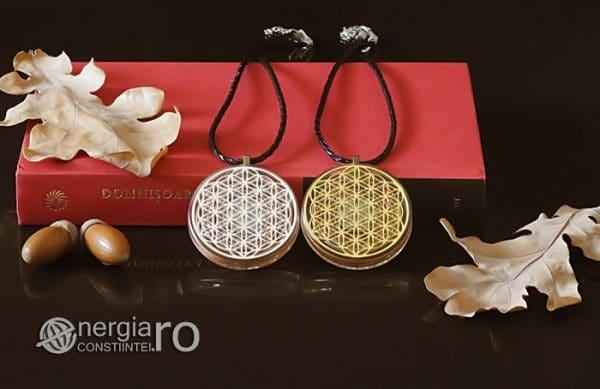 Amuleta-Medalion-Talisman-Pandant-Pandantiv-Orgonic-Orgon-Floarea-Vietii-Protector-Protectie-Placat-Aur-18k-Argint-925-ORG010-05