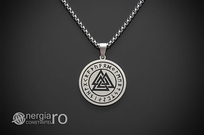 Pandant-Amuleta-Medalion-Talisman-Colier-Pandantiv-Valknut-Odin-Cu-Rune-INOX-PND112-01
