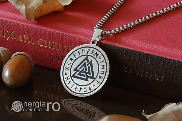 Pandant-Amuleta-Medalion-Talisman-Colier-Pandantiv-Valknut-Odin-Cu-Rune-INOX-PND112-04
