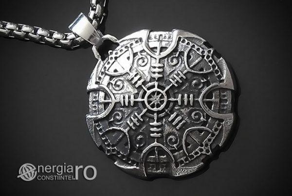 Pandant-Amuleta-Talisman-Colier-Medalion-Pandantiv-Roata-Norocului-Soare-Solar-INOX-PND108-00