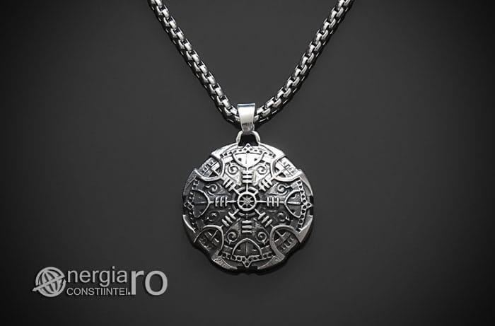 Pandant-Amuleta-Talisman-Colier-Medalion-Pandantiv-Roata-Norocului-Soare-Solar-INOX-PND108-01