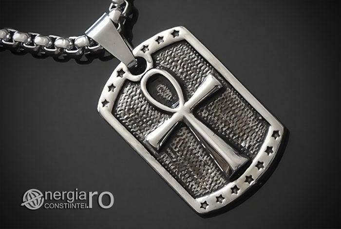 Pandant-Amuleta-Talisman-Medalion-Colier-Pandantiv-Ankh-INOX-PND068-00