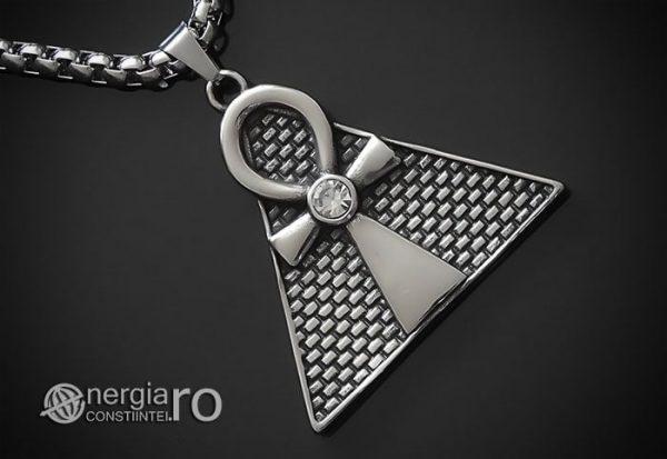Pandant-Amuleta-Talisman-Medalion-Colier-Pandantiv-Ankh-Piramida-INOX-PND065-00