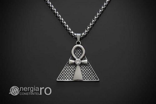 Pandant-Amuleta-Talisman-Medalion-Colier-Pandantiv-Ankh-Piramida-INOX-PND065-01