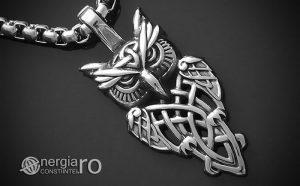 Pandant-Pandantiv-Amuleta-Talisman-Medalion-Colier-Bufnita-INOX-PND145-00