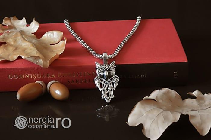 Pandant-Pandantiv-Amuleta-Talisman-Medalion-Colier-Bufnita-INOX-PND145-05
