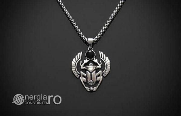 Pandant-Pandantiv-Amuleta-Talisman-Medalion-Colier-Scarabeu-Egiptean-Protector-Protectie-INOX-PND165-01