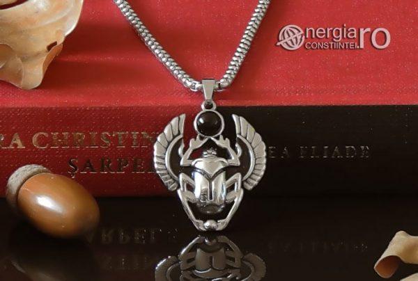 Pandant-Pandantiv-Amuleta-Talisman-Medalion-Colier-Scarabeu-Egiptean-Protector-Protectie-INOX-PND165-06