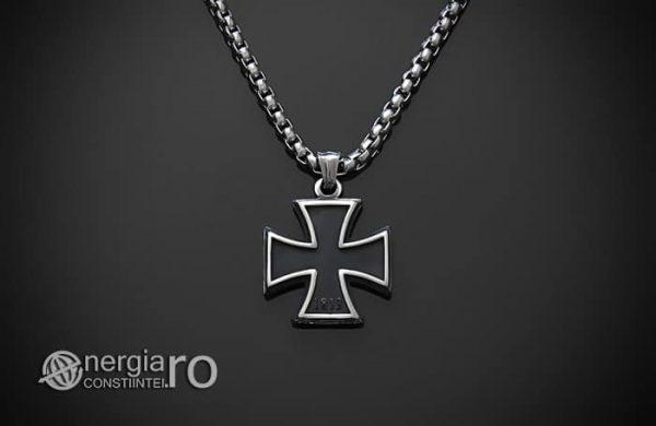 Pandant-Amuleta-Talisman-Medalion-Colier-Pandantiv-Crucea-Malteza-Crucea-de-Fier-INOX-PND072-01